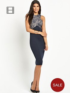 ax-paris-bonded-lace-scuba-midi-dress