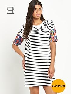 vila-tinny-print-sleeved-dress
