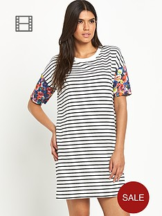 vila-tinny-print-sleeved-dress