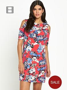 girls-on-film-cold-shoulder-printed-shift-dress