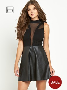 motel-synergy-style-dress-pu-skirt