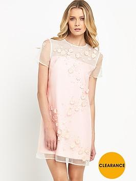 ted-baker-embellished-floral-mesh-dress