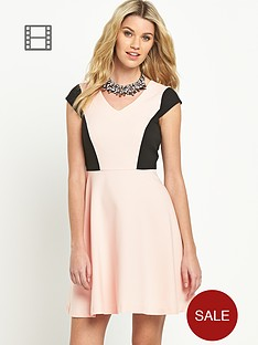 south-petite-panelled-skater-dress