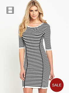 south-stripe-bodycon-dress