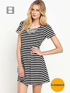 south-striped-embellished-skater-dress