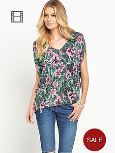south-floral-print-oversized-top