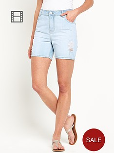 south-longer-length-distressed-denim-shorts