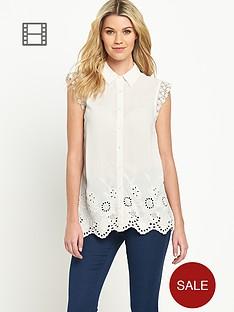 south-sleeveless-embroidered-hem-blouse
