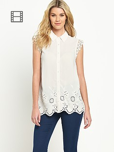 south-sleeveless-print-embroidered-hem-blouse