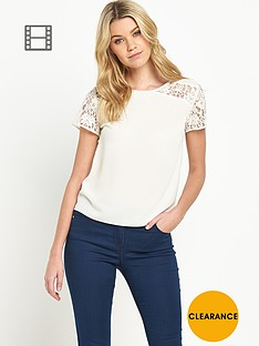 south-lace-detail-short-sleeved-blouse