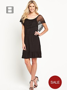 south-embroidered-overlay-frill-dress