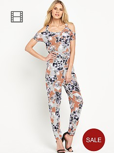 south-floral-print-cut-out-shoulder-jumpsuit