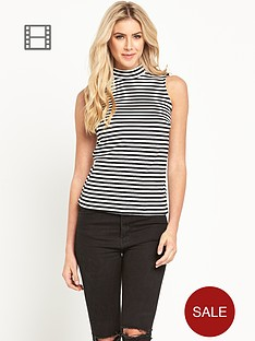 south-funnel-neck-stripe-top