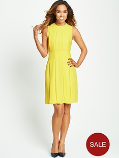 myleene-klass-yellow-belted-dress