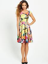 Floral Print 50s Dress
