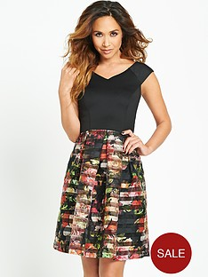 myleene-klass-floral-printed-burn-out-skirt-dress