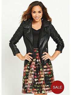 myleene-klass-embossed-detail-leather-jacket