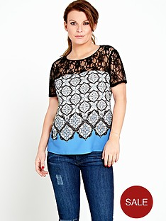 coleen-blue-tile-print-lace-top