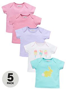 ladybird-girls-spot-and-smile-t-shirts-5-pack