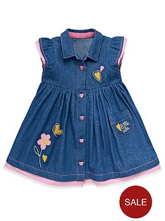 ladybird-girls-denim-appliqueacute-shirt-dress