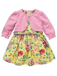 ladybird-girls-belted-dress-and-cardigan-set