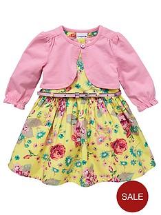 ladybird-girls-belted-dress-and-cardigan-set