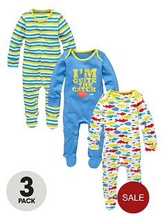 ladybird-boys-bright-sleepsuits-pack-of-3