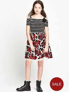 freespirit-girls-stripe-bodice-bardot-dress