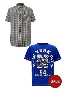 demo-boys-short-sleeve-black-and-white-check-shirt-and-graphic-t-shirt-set