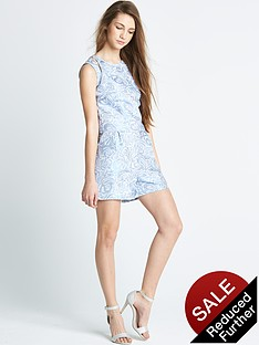 little-misdress-overlay-metallic-playsuit