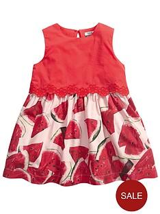 mamas-papas-floral-trim-dress
