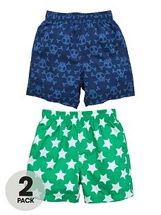 ladybird-boys-star-print-and-magic-print-board-shorts-2-pack