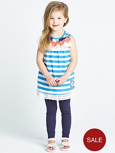 ladybird-toddler-girls-stripe-lace-trim-tunic-and-leggings-set