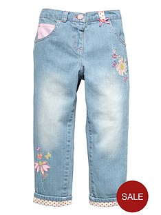 ladybird-toddler-girls-applique-turn-up-jeans