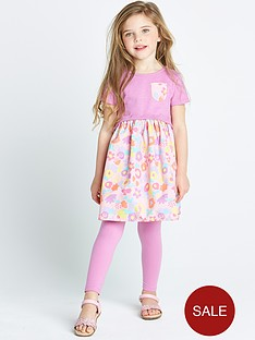 ladybird-girls-floral-abstract-dress-and-leggings-2-piece-set