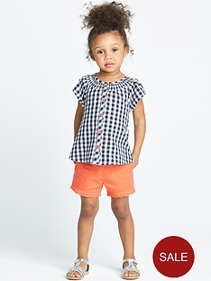 ladybird-toddler-girls-gingham-blouse-and-shorts-set