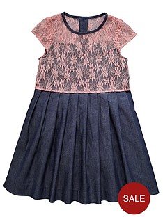 ladybird-girls-crochet-detail-chambray-skirt-dress