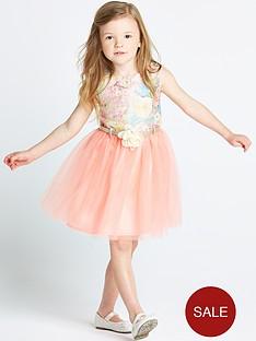 ladybird-girls-floral-jacquard-dress-with-corsage-belt