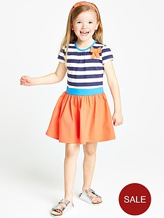 ladybird-girls-short-sleeve-stripe-dress