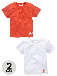 ladybird-girlsbroderie-sleeve-t-shirts-2-pack