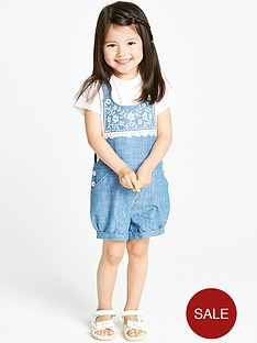 ladybird-girls-shorts-dungaree-and-t-shirt-2-piece-set