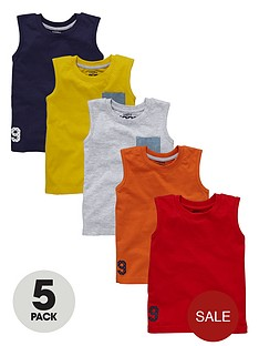 ladybird-boys-plain-vests-5-pack