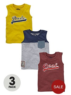 ladybird-boys-slogan-tanks-3-pack