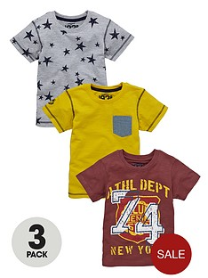 ladybird-boys-slubstripe-tees-3-pack