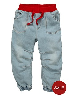 ladybird-boys-lightwash-denim-look-jersey-cuffed-jeans