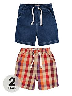 ladybird-boys-denimcheck-shorts-2-pack