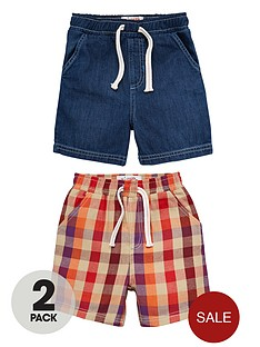 ladybird-boys-denimcheck-shorts-2-pack