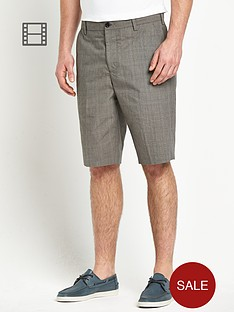 french-connection-mens-check-shorts
