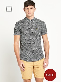lyle-scott-mens-short-sleeve-etch-print-shirt