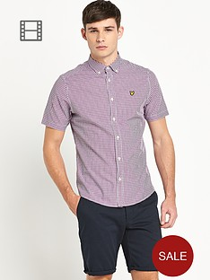 lyle-scott-mens-short-sleeve-gingham-shirt